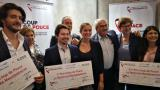 Les trois lauréats du concours Coup de Pouce : Les Fruits de Terre, Ed&Moi et Les Bons Tech