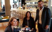 Karine Dognin-Sauze, Fouziya Bouzerda et Mathieu Cochard présentaient l'utilisation de Pop'n eat au Hard-Rock Café.