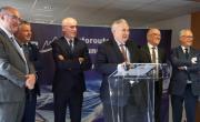 e à droite Philippe Redoulez, Martial Saddier, Thierry Repentin, Pierre Lambert, Christian Monteil et Claude Haegi