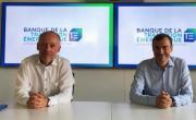 Pierre-Henri Grenier, directeur exécutif de la Banque de la transition énergétique, et Daniel Karyotis, dg de BPAura.