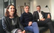 Ségolène de Montgolfier (Evolem Citoyen) et François Noir (dg adjoint) entourent Bruno Rousset, brefeco.com