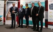 David Kimelfeld (Président Métropole de Lyon), François Turcas (Président CPME Rhône) et Olivier Simonin (Directeur régional AG2R La Mondiale) étaient tous présents pour le lancement de Révél'&Vous