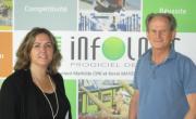 Céline Crelerot (responsable marketing et communication ) et André Chabert, président-fondateur d'Infologic.