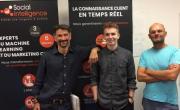 Les deux cofondateurs, Olivier Fabre et Alex Boulangé, accueillent actuellement un étudiant d'Epitech Lyon, en stage dans l'entreprise.