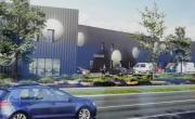 Le futur village d'entreprises du parc d'activités communautaire au sud de Mâcon.