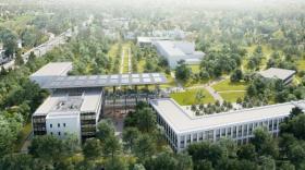 Vue aérienne du Campus Région Numérique