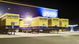 L'Eurohub français du transporteur et logisticien allemand Dachser à Combronde.