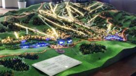 La maquette du Thaiwoo Ski Resort.