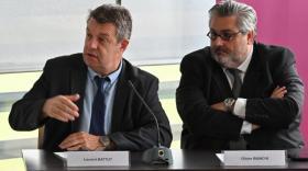Les présidents du Valtom (à gauche) et de Clermont Auvergne Métropole annoncent la création d'un nouveau réseau de chaleur