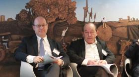 Jean de Balathier (à gauche), directeur de France Coop Auvergne-Rhône-Alpes, et Gérard Rodange, président.