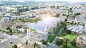 Futurs bâtiments tertiaires à Lyon.