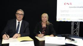 Jean-Pierre Barbier, président du Conseil départemental de l'Isère et président d'Inspira, et Elisabeth Ayrault Pdg de CNR.