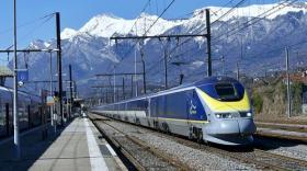 En 2018, l'Eurostar arrivant en gare d'Albertville