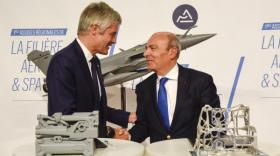 Laurent Wauquiez, Laurent Wauquiez, président de la Région Auvergne-Rhône-Alpes, et Eric Trappier, Pdg de Dassault Aviation.