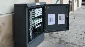 armoires fibre optique Orange posées à Lyon
