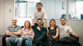 Brieuc Oger, CEO et fondateur de Hub-Grade & Focus, au dessus, avec ses associés bref eco