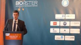 Philippe Archinard, président du Bioaster lors de l'inauguration.