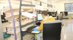 Le service pharmacie de l'hôpital Fleyriat, un des établissemnts du centre hospitalier de Bourg-en-Bresse