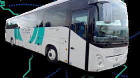 un bus STI devant une carte de France
