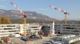 Fin du gros œuvre pour le bâtiment Etincelle
