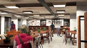 Un bar-restaurant sera également installé et un partenariat avec Ninkasi mis en place.