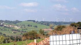 Simulation visuelle du parc éolien du Bois de Montrigaud.