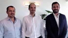 Cyril Mangino, Lorenzo Sanchez et Nicolas Antoinat, les trois collaborateurs de Villa Création