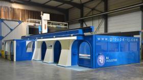 Machine d'usinage cinq axes grandes vitesses & grandes dimensions de RJ Industrie.