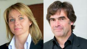 Ghislaine Celdran, présidente de Cellux et du CIRIDD et Eric Fournier, vice-président de la Région Auvergne-Rhône-Alpes.