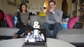 """Nicolas et Guylaine Antonini, fondateurs de """"En Mode Up !"""", en cohome."""