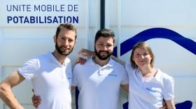 Guillaume Lonchamp, Khaled Al Mezayen et Justine Vidil, brefeco.com