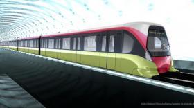Visuel 3D du futur métro