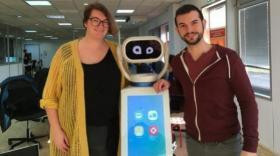 La robot d'accueil Heasy de Hease robotics brefeco.com