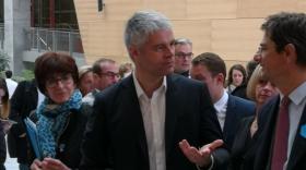 Laurent Wauquiez en compagnie de Nicolas Dufourcq