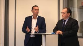 Fabrice Plasson, fondateur d'Amoéba, et Ambroise Fayolle, vice-président de la BEI.