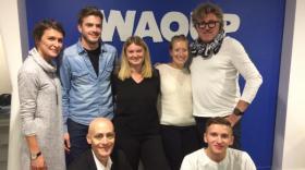 Une partie de l'équipe de Waoup.