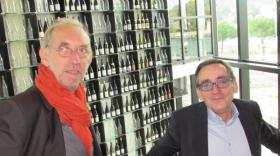 Olivier Sanejouand et Jean-Yves Curtaud à la Maison du Tourisme de Vienne.
