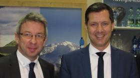 Lionel Flasseur, directeur général, et Nicolas Daragon, président d'Auvergne-Rhône-Alpes Tourisme.