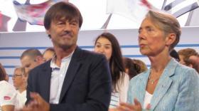 Nicolas Hulot et Elisabeth Borne étaient à Lyon pour l'inauguration du terminal 1 à l'Aéroport Saint Exupéry.