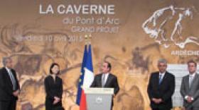 François Hollande a inauguré la Caverne du Pont d'Arc