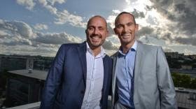 Pierre Artru, dirigeant d'Altavia Saint-Etienne, et Luc Romano, fondateur de Jetpulp.