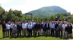Les distributeurs américains de Mecalac en visite en Haute-Savoie.