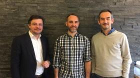 Les cofondateurs de Mobiliwork (de g. à d.)  : Laurent Brémond, Benoit Monnier, Jérôme Gonon.