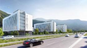 Les futurs bâtiments du pôle hydraulique d'EDF à Grenoble.