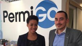 Ronan Le Boulaire, président du groupe Arcan, et Cassandra Valmorin, présidente de PermiGo 2.