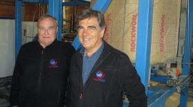 Jean-Edmond Chaix (à g.), inventeur du procédé Turbosol, et Patrick Bouchard, président de Hevatech. - bref eco.com