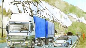 Camions à pantographes