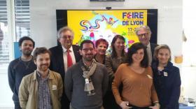 L'équipe de la Foire de Lyon + start-uppeuse