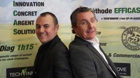 Cyprien et Marc Jeune, le fondateur de Tech'Innov.