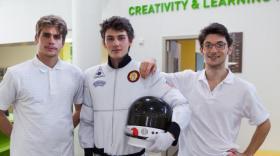 Romain Lyonnet, Victor Bouin et Flavien Chervet ont créé Exoflow à la sortie de leurs études. - Bref eco